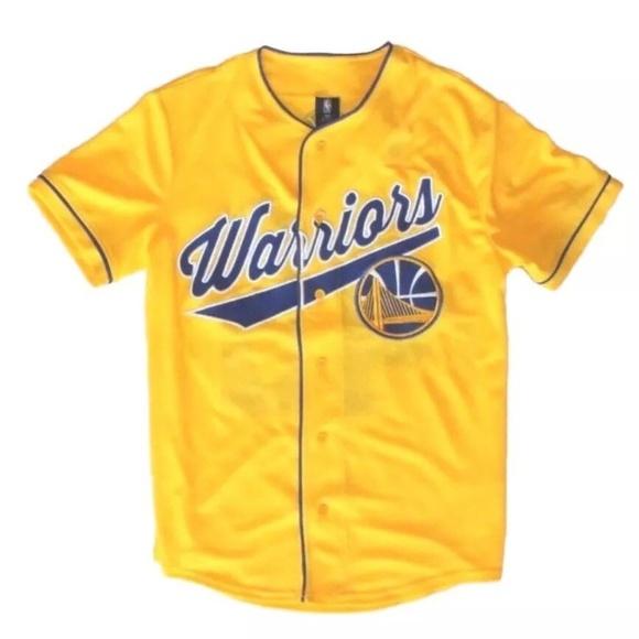 promo code 3bdf9 faf8f NBA x Unk Golden State Warriors Baseball Jersey NWT